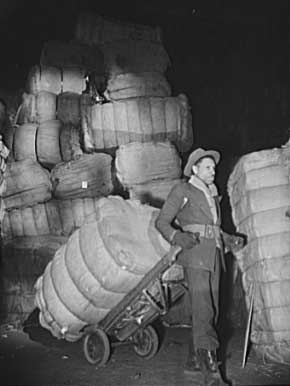 Bales of rags. Shapiro Company, Baltimore, Maryland, 1942 Credit: Photographer: Howard Liberman; Library of Congress, Prints and Photographs Division [reproduction number LC-USE6-D-002243]
