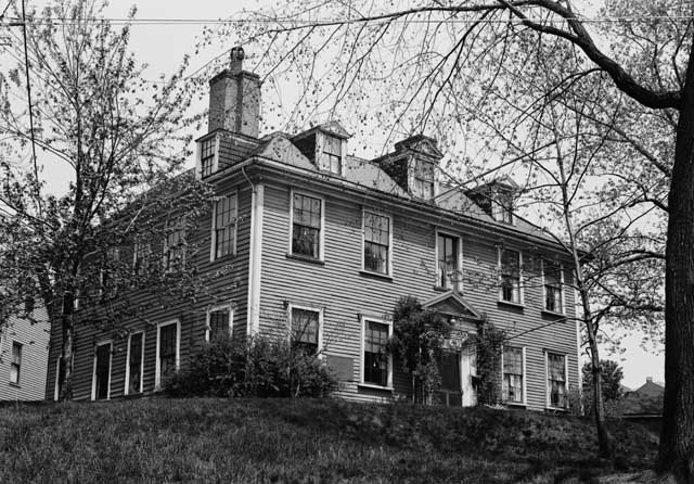 Cary-Bellingham Mansion, 34 Parker Street, Chelsea Credit: Branzetti, Frank O., Historic American Buildings Survey, 1941. Library of Congress, Prints and Photographs Division [reproduction HABS, MASS, 13-CHEL,4]