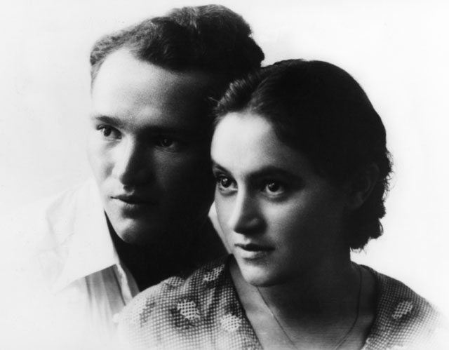 Sam & Esther Caption: Wedding photo of Sam and Esther Naimark, Palestine, 1934