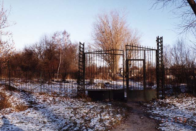 Entrance to the old Jewish Cemetery in Novograd Volynsk. Photo credit: Miriam Weiner of Routes to Roots