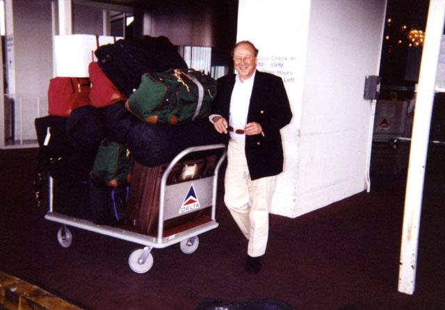 Paul Gass embarking on his trip to Ukraine