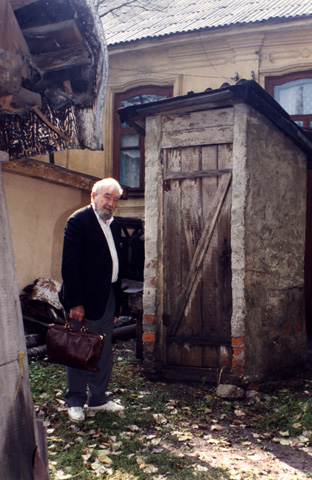 Baruch recognized his family's outhouse, unchanged after 75 years.