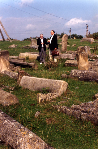 Note the transmission lines transecting the old Jewish cemetery in Korets