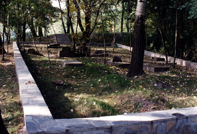 The remnants of the old Jewish cemetery