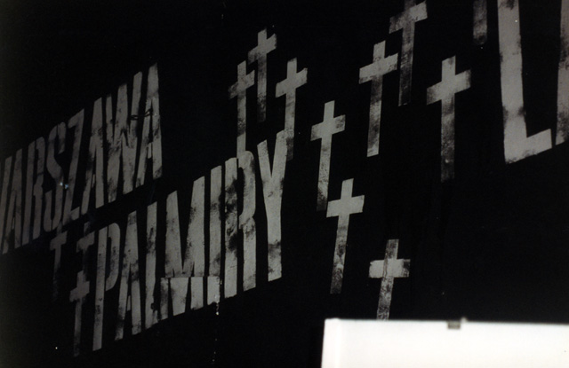 Crosses on the ceiling of the Pawiak Prison Museum pay tribute to Catholic martyrs who were imprisoned there.